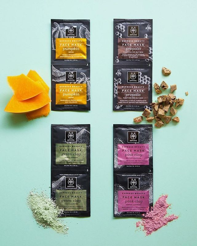 Try our cleansing masks! #apivita #expressbeauty #beautyfood #masks #cleansing