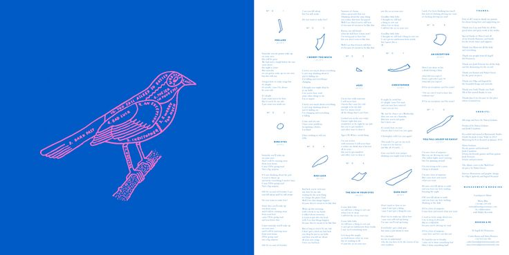 Núria Graham | Bird Eyes LP + CD  Art Direction: Ingrid Picanyol & Olga Capdevila Graphic Design: Ingrid Picanyol Illustrations: Olga Capdevila Cover artwork: Adam Green