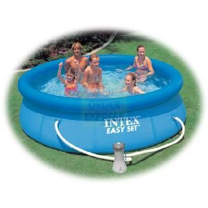INTEX 10 feet x 30 Inches Easy Set Pool Set Easy Set Pools are designed for easy use Simply lay out the pool on a flat surface and inflate the http://www.comparestoreprices.co.uk/outdoor-toys/intex-10-feet-x-30-inches-easy-set-pool-set.asp