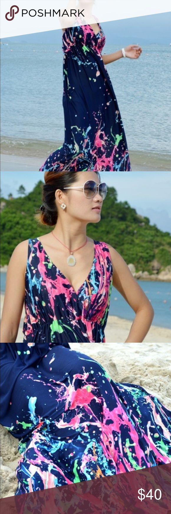 Plus Size Elegant Bohemian Maxi SunDress 18W Brand New Women's Plus Size Elegant Formal Floral Print Bohemian Long  Vogue Evening Party Maxi Dress 1...