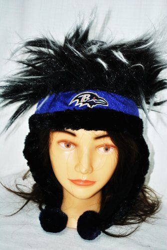 Baltimore Ravens Official NFL Football Troll Hair winter Stadium Dangle Hat by Forever collectibles by Forever. Save 40 Off!. $29.99. Baltimore Ravens Official NFL Football Troll Hair winter Stadium Dangle Hat by Forever collectibles. Super-soft plush Spiked hat;Officially licensed NFL product. Slit at left ear flap to connect both ear flaps. Quality graphics. Quality embroidery;Contrast color faux fur trim & poms. Great for the stadium on gameday or To wear to any NFL Party!!!!This Dang...