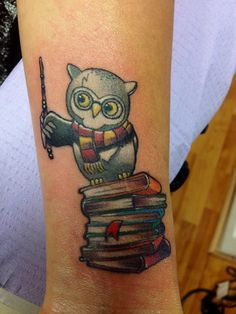 owl with books tattoos - Google Search