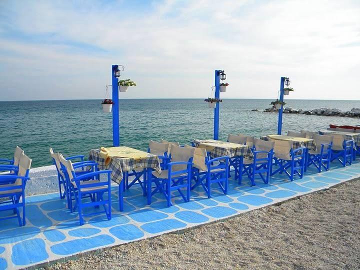 Fish Restaurant, Limenaria, Thassos Island, Greece