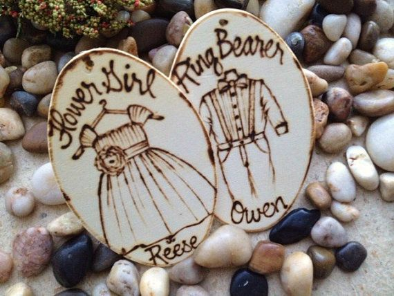 Christmas Ornaments for your Flower Firl & Ring Bearer Thank You for Being Part of Our Wedding Day Personalized with their Outfits and Names