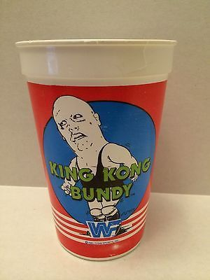 (TAS030485) - 1985 WWF WWE LJN Titan Sports Cup - King Kong Bundy