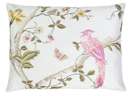 Summer Palace Duck Egg Cushion  With its charming cacophony of birds and flowers, this elegant archive print on a soft duck egg background creates the perfect cushion to accessorise sophisticated decor.  http://furnitureanddesignla.snappages.com/home