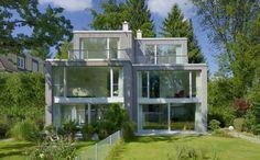 Doppelhaus B - Jacob & Spreng Architekten GmbH | In einer Baulücke werden 2 Doppelhaushälften errichtet. Diverse geschützte alte Bäume und der Wunsch nach Privatsphäre...
