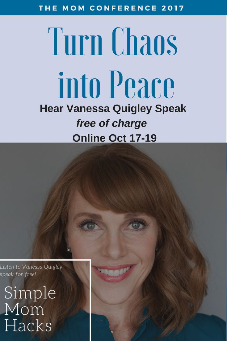 """""""Simple Mom Hacks - Join me at the Mom Conference and you can hear Vanessa Quigley's Speech FREE of charge