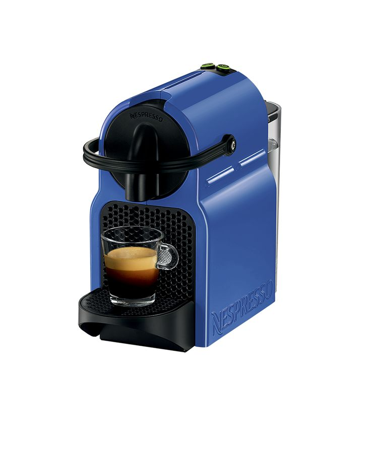 New nespresso inissia coffee machine blueberry blue New coffee machine