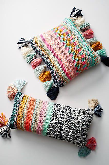 Anthropologie Stitchplay Pillow