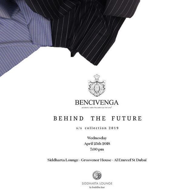 The Bencivenga brand has been growing over the years thanks to the patronage of their clients in Dubai Naples and London. Dubai though has become more and more central and relevant so it is for this reason Oscar Bencivenga will be presenting their world premier s/s 2019 collection Behind the Future on April 25th at Siddartha Lounge at the Grosvenor House.  Register to attend the event at the link below. Www.bencivenga.me.uk/dubai-event  We look forward to seeing you all!  @mydubai…