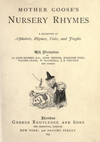 Image result for mother goose's nursery rhymes 1877 tenniel cover page