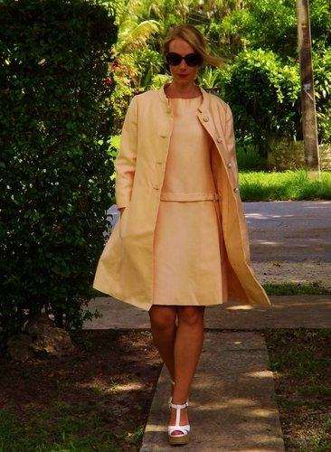 Vintage Malcolm Starr Jackie O Style Dress & Coat Sz S/M | eBay