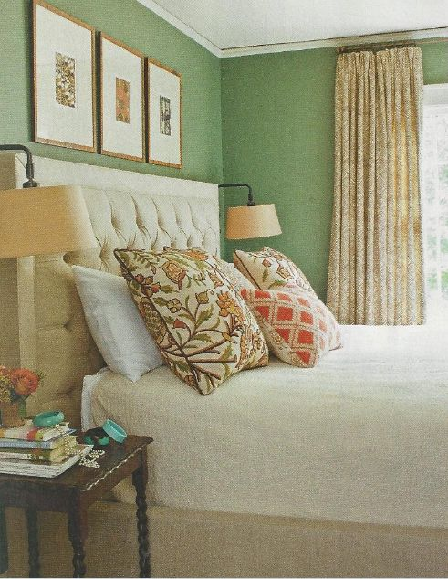 41 best images about green rooms on pinterest pistachio for Southern bedroom designs