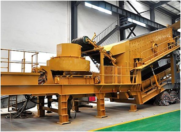 Vertical shaft impactor crusher is outfitted with elite impact crusher, high-quality and robust vibrating screen, and vehicular feeder, with favorable benefits of high flexibility, adaptable combination, low material conveyance cost, light weight, and more.