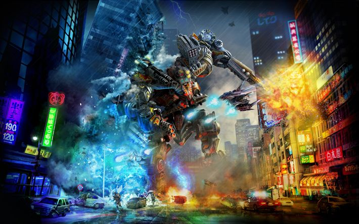 Download wallpapers X Morph Defense, 4k, robot, 2017 games, action