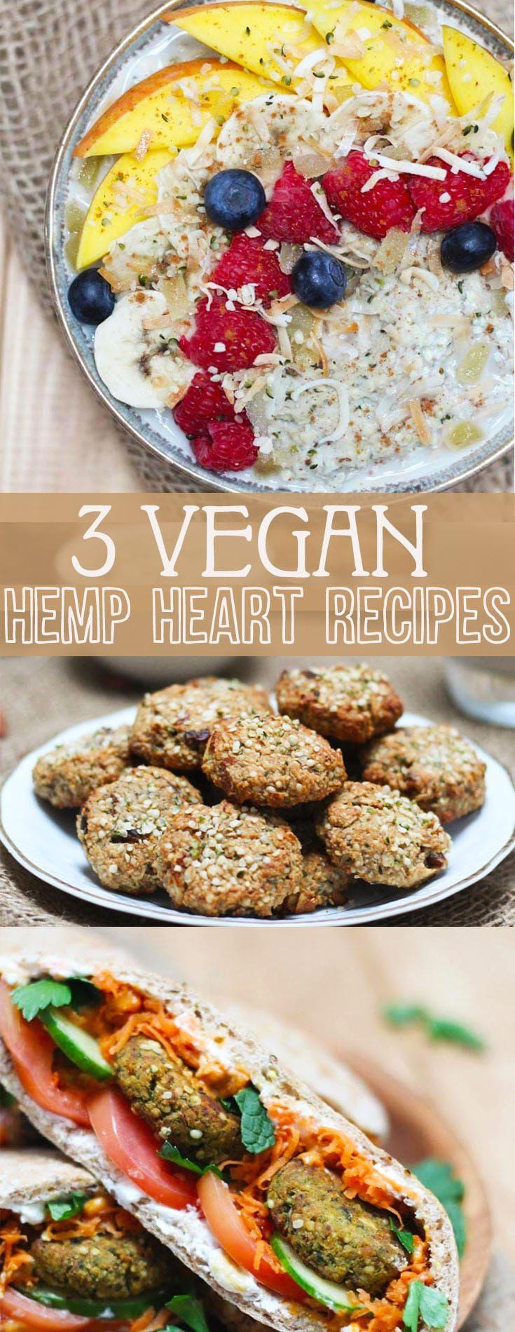 I share my three favourite vegan hemp hearts recipes including a healthy falafel, power cookies, and hemp hearts no-oats porridge!