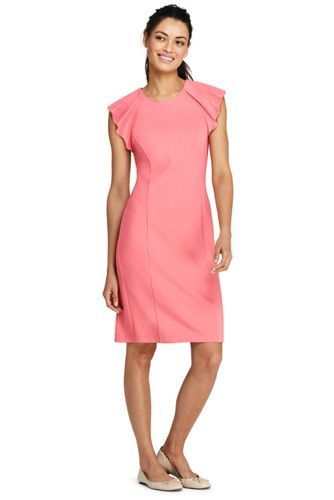 08f424921a6 Women s Sleeveless Ponte Ruffle Dress from Lands  End