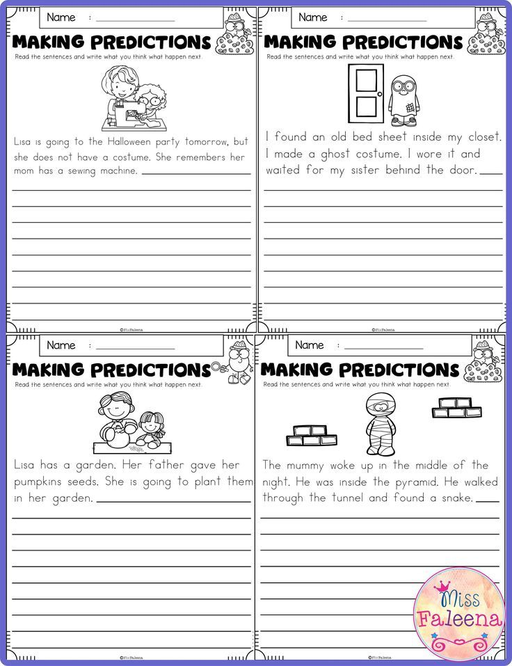 October Making Predictions Contains With Total 30 Pages Of Making Prediction Worksheets This Product Is Suitable For First Through Third Grade Students These Predictions worksheets 1st grade