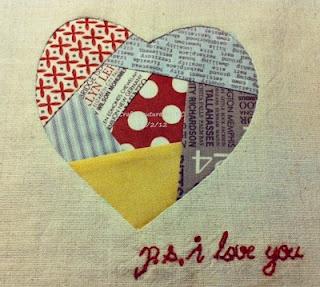 paper pieced heart