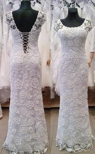 Único irlandés blanco boda vestido-MIA-a mano de por LaimInga