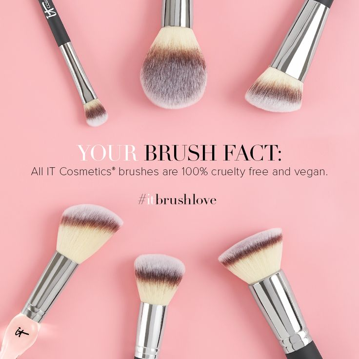 Did you know that all IT Cosmetics brushes are #vegan and #crueltyfree?