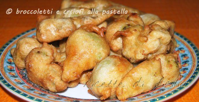 broccoletti-e-carciofi-alla-pastella RICETTE DI PASTELLE PER FRIGGERE