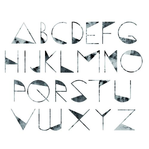 triangle fonts - Google Search