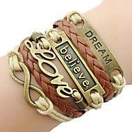 pulseira+de+couro+wrap+clássico+amor+bronze+(1+pc...+–+EUR+€+1.95