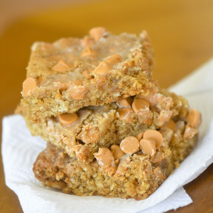 Butterscotch Peanut Butter Bars// Trisha's Southern Kitchen  http://www.foodnetwork.com/recipes/trisha-yearwood/butterscotch-peanut-butter-bars.html