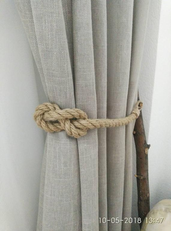 Jute Rope Curtain Tiebacks Nautical Tiebacks Rope Curtain Tie Backs Rope Curtain Holder Nautical Decor Rope Curtain Tie Back Curtain Tie Backs Curtain Holder
