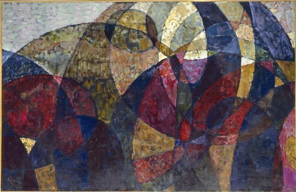 Etude pour Amorpha, fugue à deux couleurs et pour Amorpha, chromatique chaude, 1911 de Kupka