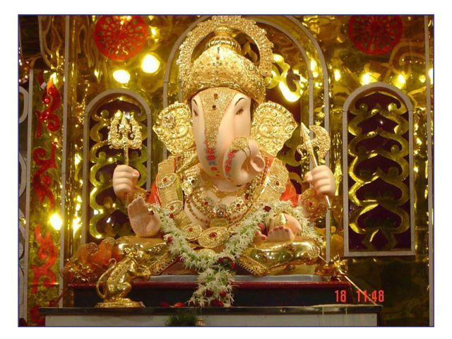 A clay Ganesha murti, worshipped during Ganesh Chaturthi festival.