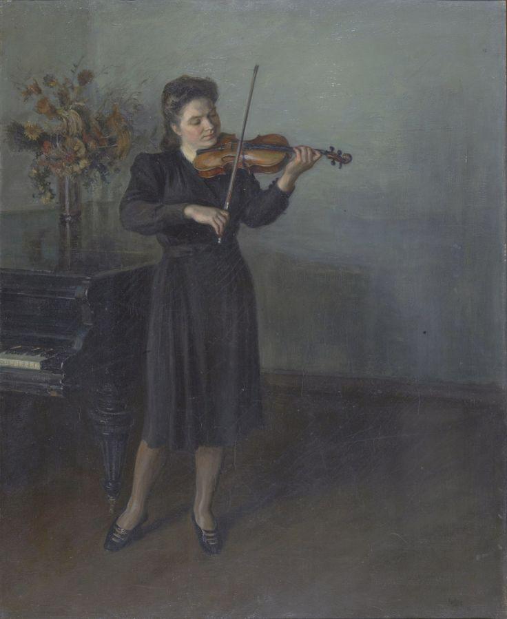 Рянгина С. В. Скрипачка. 1946