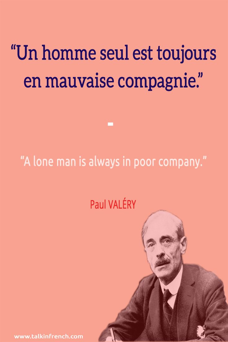 Follow Talk in French on Pinterest for more #French #Quotes from famous icons.