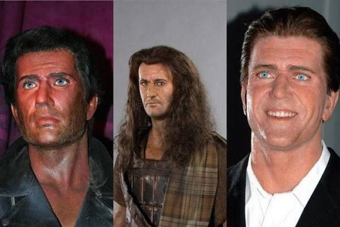 Mel Gibson  The 18 Most Bizarre And Scary Celebrity Waxworks You'll Ever See • Page 3 of 5 • BoredBug