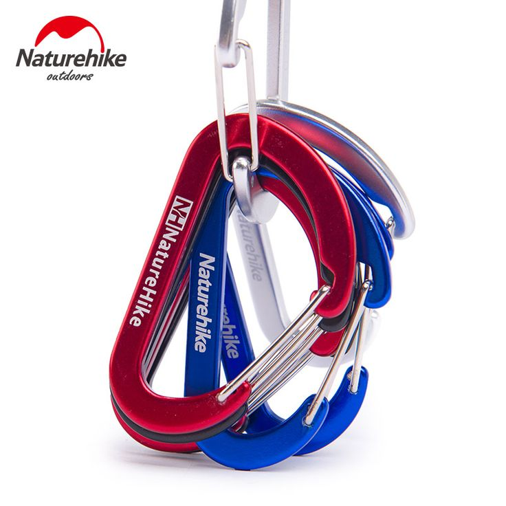 NatureHike Multicolo 6.5Cm D-shaped Aluminum alloy Hiking Climb Carabiner Hook Quick Release Hanging Buckle