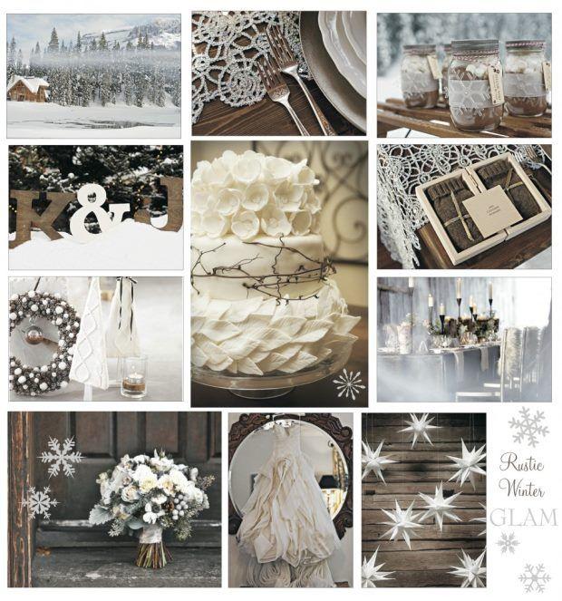 ślub zimą rustykalny