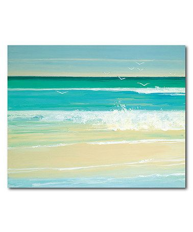 Another great find on #zulily! Sand Sea Wrapped Canvas #zulilyfinds