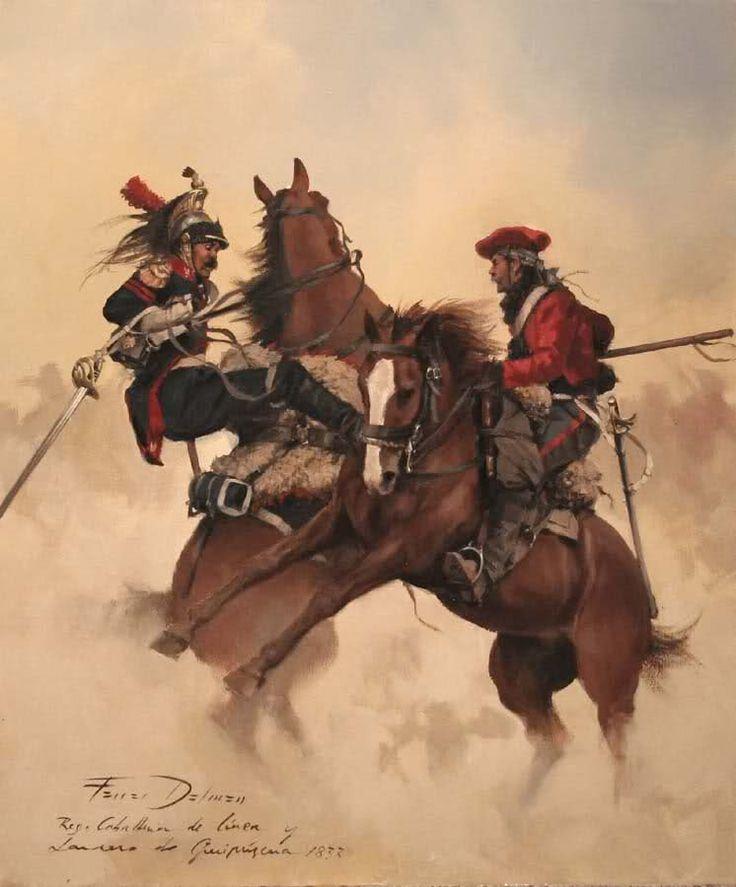Regimiento de caballeria de line y lancero de guipuzcoa 1833