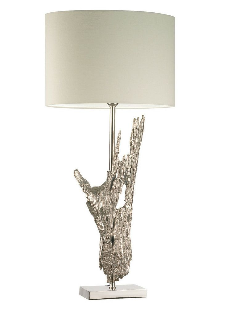 Hotel lighting collection tall contemporary driftwood form table lamp nickel partner wall lights available over 100 custom shade options