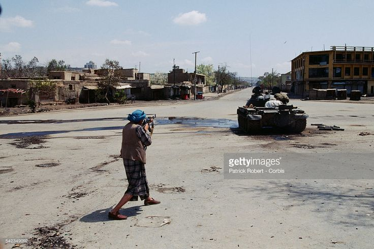 Fight in Kabul. The city fell into the hands of mujahideen after Mohammad Najibullah's forces were defeated.