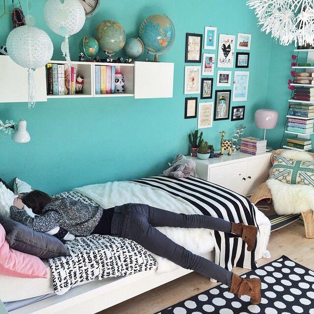 8 besten wandfarbe t rkis bilder auf pinterest wandfarbe t rkis farben und kinderzimmer gestalten. Black Bedroom Furniture Sets. Home Design Ideas
