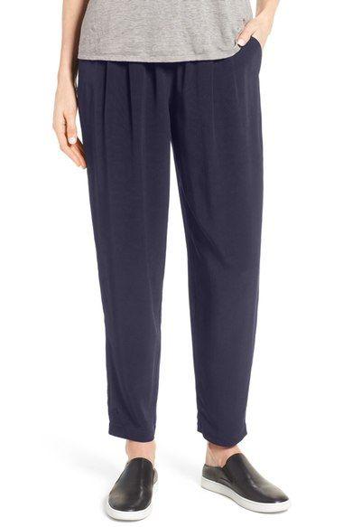 Main Image - Eileen Fisher Tapered Trousers (Regular & Petite)