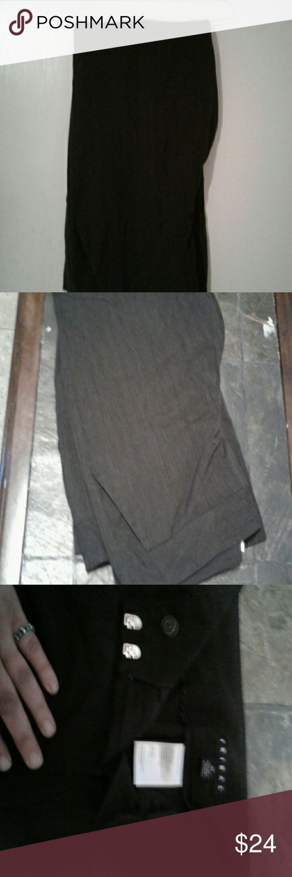"""Charcoal grey dress trousers ?? comfy, wide leg Charcoal gray wideleg  , wide waist band.  Gray  trousers. (Inseam is 32"""")?? TRIBAL?????? Pants Trousers"""