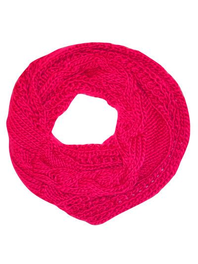 ♥ Monsoon Accessorize Pink Chunky Knit Twisted Snood ♥