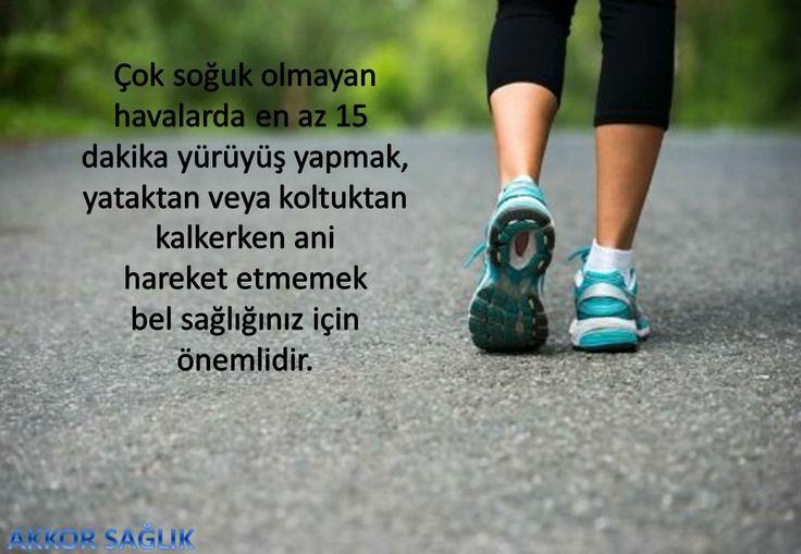 Bel sağlığınız için yürüyüş yapın...