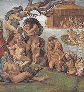 Ceiling Of The Sistine Chapel Genesis Noah 7 9 The Flood L...  by Michelangelo Buonarroti