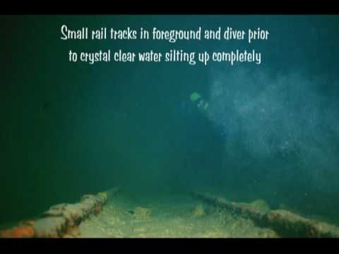 ▶ Scuba diving in a flooded rail tunnel.
