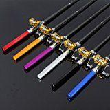 Portable Pocket Pen Shape Aluminum Alloy Fishing Rod Pole Reel Combos